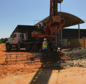 drilling along 2818 side of library May 18 2018