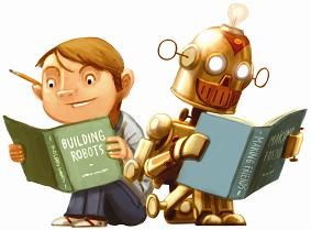 robot and boy; Images are copyrighted. Contact the CSLP at 1-866-657-8556 or info@cslpreads.org for more information.