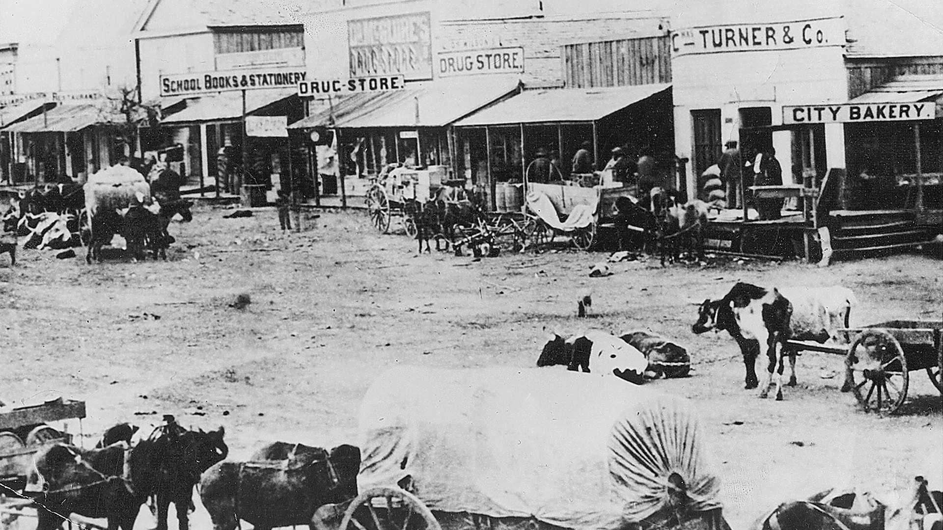 downtown bryan in 1871